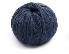 100% Luxurious Baby Alpaca Wool/Yarn Melange Blue 66 DK 50g knitting crochet