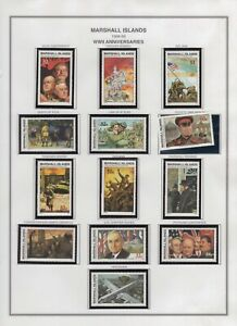 Marshall Islands 1995 History WWII Scott #504-518, 520  !2 MNH Stamps ST1645