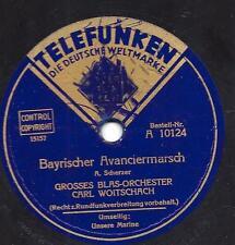 Blasorchester Carl Woitschach 1933 : Unsere Marine + Bayrischer Avanciermarsch