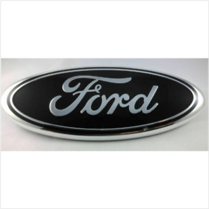 BLACK & CHROME 2005-2014 Ford F150 FRONT GRILLE/ TAILGATE 9 inch Oval Emblem 1PC