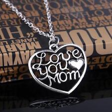 "Halskette Kette Schmuck ""LOVE YOU MOM"" Mama Muttertag Herz Silber Edel NEU&OVP"