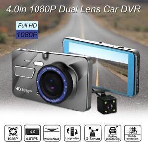 Car Camera Recorder Front and Rear Dual Lens HD 1080P Dash Cam Night Vision 12MP