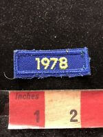Vintage 1978 Date Tab Patch - Birthday Year / Graduation Year Or Event ? 83P7
