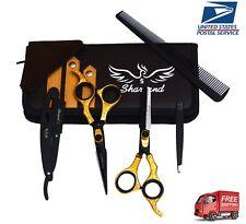 Hair Cutting Scissors Barber Scissors Set Hair Cutting Tools Straight Edge Razor