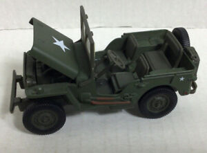 Army Jeep Die cast Toy WWII Willys Jeep 1/32 Scale Model Gate