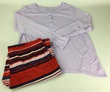 Gilligan & O'Malley Women's Cozy Pajamas 2PC Sleepwear Set - Size Large