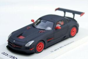Mercedes SLS AMG GT3 Year 2011-15, Matte Black, Spark-Modell 1:43, Limited