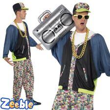 Mens 1980s Hip Hop Costume Adult Rapper Fancy Dress Vanilla Ice MC Hammer Outfit