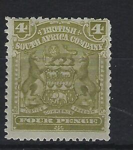 British South Africa SG 82 4d Olive  Mint Cat £20