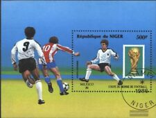 niger Bloc 49 oblitéré 1986 Football-WM ´86, Mexique