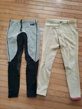Lot of 2 Pair of Ladies Equestrian breeches riding pants leggings Kerrits Devon