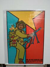 Rene Mederos FNL DE VIETNAM DEL SUR 1969 Cuban Communist Propaganda Poster