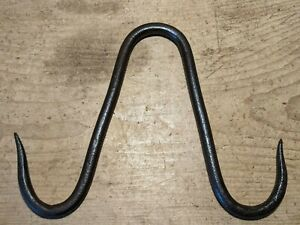 """Antique Wrought Iron Gambrel~Hooks~Meat/Beam/Game~Butchers Hooks~Genuine~8 1/4""""~"""