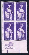 US #1832 = 15¢ Edith Wharton - ZIP CODE BLOCK OF 4 = MINT VF NH