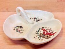 """Fieldings Crown Devon """"Oceania"""" Pattern Handled Trefoil Dish."""