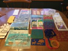 Assorted group of stencils and transfers