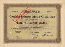 GLÜCKAUF Brauerei Gelsenkirchen Aktie 1922 / 1895 / 1897 Pokorny Bier Dortmund