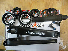 Diamondback 3 Piece Crank Set BMX Bike Cycle Axle Arms Old School Size Bearings