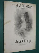 Partition ancienne Piano Jules KLEIN Peau de satin Polka