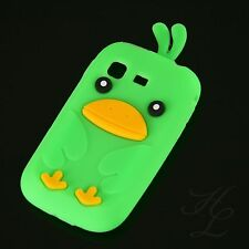 Samsung Galaxy Pocket S5300 Soft Silikon Case Schutz Hülle Etui Chicken Grün 3D