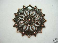Antiqued Copper Pl Filigree Drop Findings Pendant