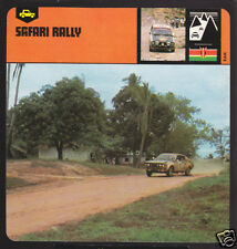 SAFARI RALLY Auto Car Race History CARD Datsun ICOWEN