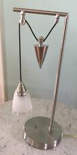 Luminaire Industrial Pulley Desk Lighting Retro chrome Adjustable Table Lamp w c