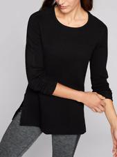 ATHLETA Thermal Honeycomb Sweater XXS Extra Extra Small BLACK NWT #870515