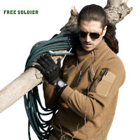 FREE SOLDIER Tactical Men Jackets Outdoor Sports Camping Mens Coat Fleece Fabric