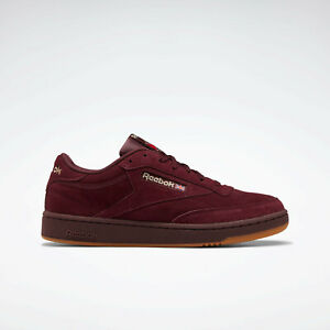 Reebok Classics Club C 85 Shoes Suede Shoes Maroon