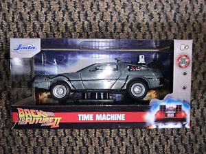 Jada Back To The Future II 1981 DeLorean Time Machine Die-Cast 1:32 Model New