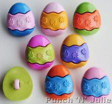 EGG HUNT EASTER EGGS - Chocolate Sweet Spring Children Novelty Craft Buttons