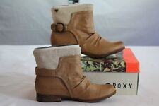 """ROXY """"QUINN"""" TAN CASUAL BOOTS WOMEN'S MOTORCYCLE STYLE size 8.5 / Eight & 1/2"""