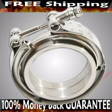3'' V-Band Flange & Clamp Kit for Turbo Exhaust Downpipes STAINLESS STEEL