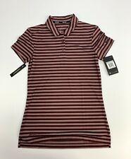 New Women's Large XS Dri-Fit Stripe Polo Golf Shirt Green 884867 372  $55