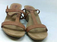 Style & Co. Womens Mulan Fabric Open Toe Casual Slingback, coffee, Size 9.0 MR3s