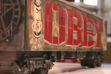 """Shepard Fairey / OBEY / """"Tag the System"""" Train Car Hand-Painted 1/1 Signed"""