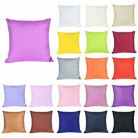 Home Decor Cotton Soft Pure Color Throw Pillow Cover Sofa Couch Cushion Case