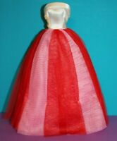 Barbie Campus Sweetheart #1616 GOWN Formal DRESS Pink Red Vintage Reproduction