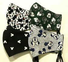 Mickey Mouse Disney Handmade Face Mask with Filter Pocket Nose Wire All Sizes