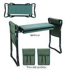 Folding Garden Kneeler Knee Pad Support Seat Bench Ergonomic Garden Tool Green