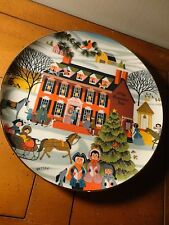 Olde Countrie Inn Lynell Studios By Betsey Bates The Joy Of Christmas Plate 1979