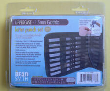 The Bead Smith UPPERCASE 1.5mm Gothic Letter Punch Set,jewelry,craft,NEW NIP