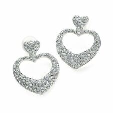 Heart Crystal Alloy Drop/Dangle Costume Earrings