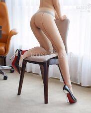 Strumpfhose Tights Pantyhose Nylons offen beige natural rote Naht glänzend