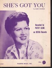 She's Got You 1961 Patsy Cline Sheet Music
