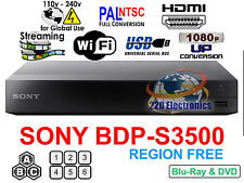 Region Free Blu-Ray Player SONY BDP-S3500 Wifi Netflix Smart Multi region