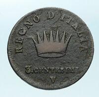 1810 / 1809 ITALY French Napoleon Bonaparte ITALIAN KING 3 Centesimi Coin i83901