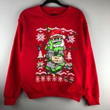 Sesame Street Oscar Xmas Sweatshirt Size Small Ugly Christmas Sweater Party
