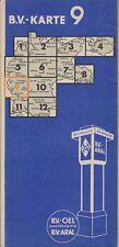 Aral Strassenkarte LandkarteStadtplänen BV Karte Deutschland Blatt 9 II/3 1937